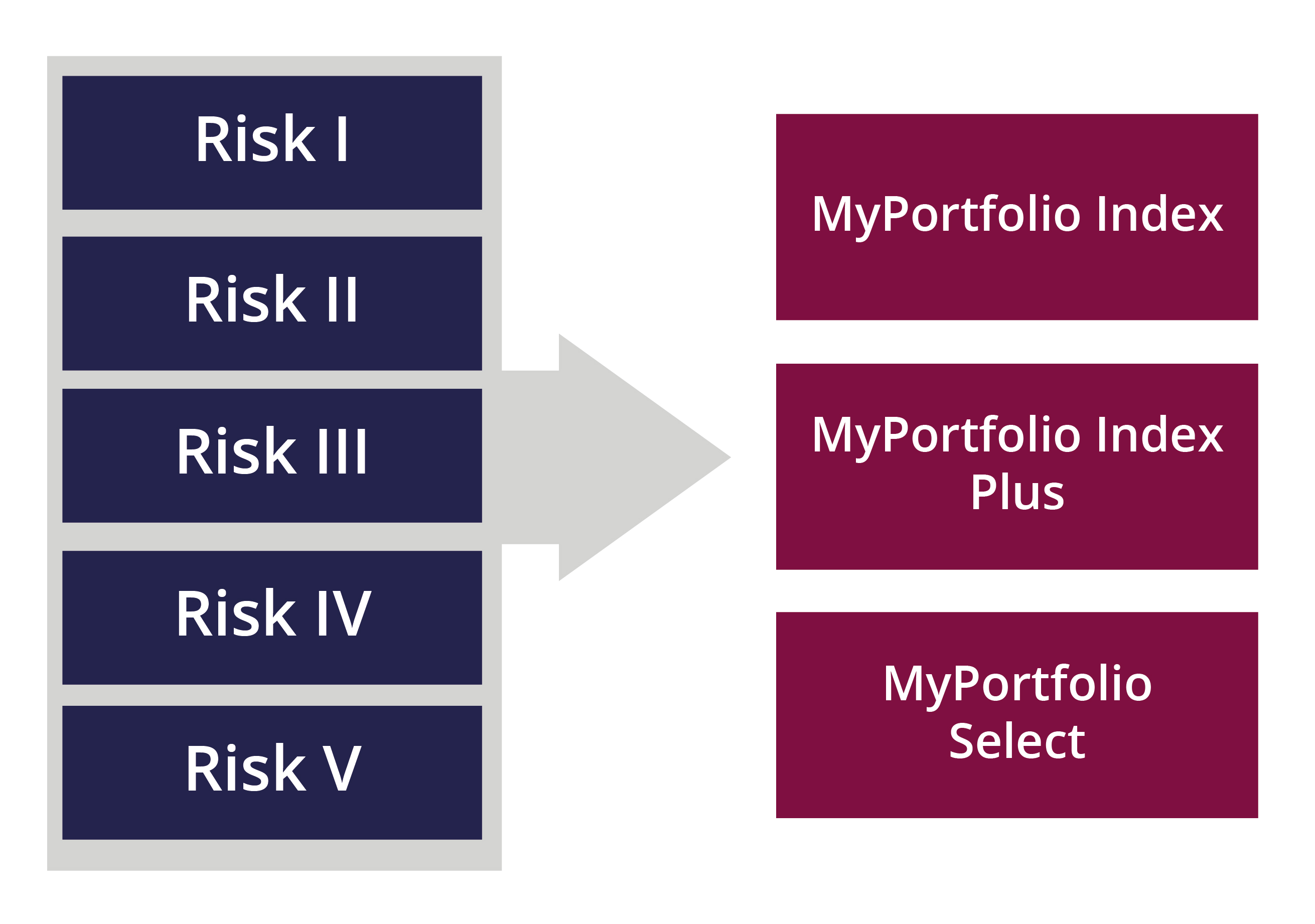 Choice of risk level Risk levels image