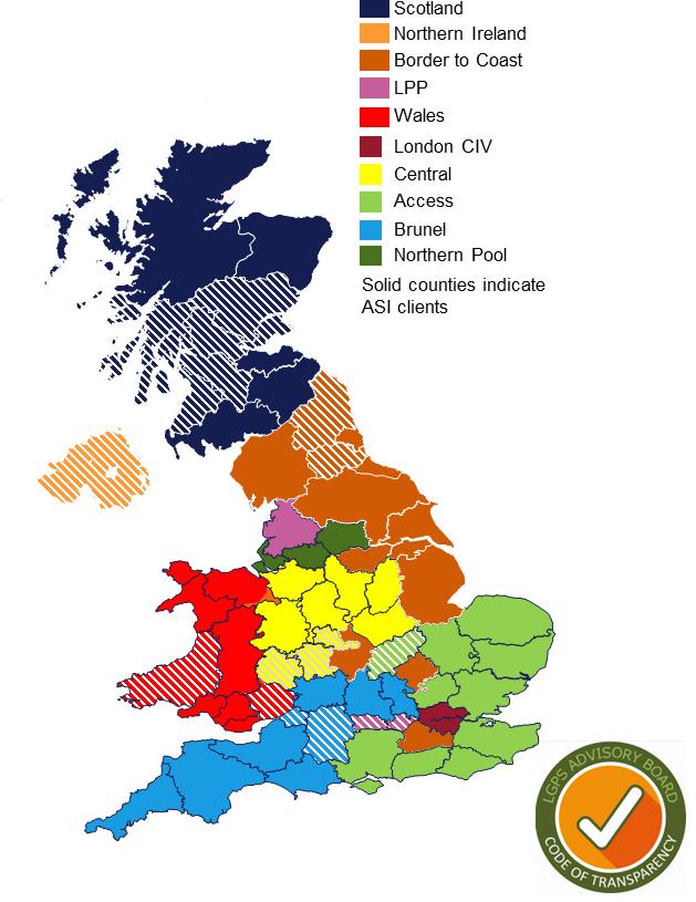 LGPS - UK map